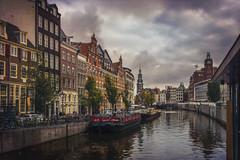 Amsterdam (Luc Mercelis) Tags: amsterdam minoltaprimelens24mm water clouds textureeffects