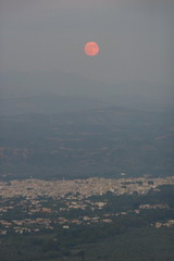 Moonrise over Sparta (Fraser P) Tags: greece mystras sparta peleponnese mazaraki