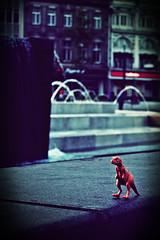 2010-05-20o Nottzilla ([Ananabanana]) Tags: nottingham nottinghamshire notts nikon d40 gimp photoscape nikon1855mmkitlens 1855mm 1855mmnikkor 1855mmnikonkitlens councilhouse oldmarketsquare nikonistas nikonista square fountain fountains dinosaur monster godzilla reptile toy child children abandoned colour filters 1855mm1855nikonafsdx nikkor1855mm nikonkitlens