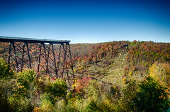 POTD 288 (Webtraverser) Tags: 366picturesin2016 pennsylvania fall fallfoliage kinzua kinzuastatepark pictureoftheday potd2016 skywalk trestlebridge d7000 kane unitedstates us