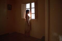 Bohmienne. (nickobaills) Tags: boheme flamenco spanish singer cantaora gypsy light window film dust digital day portrait woman artwork indoor interior beauty bohemienne rocio lopez
