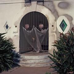 Ghosts (ADMurr) Tags: la southla apartment rehab rolleiflex zeiss planar kodak ektar film overcast roberta apartments