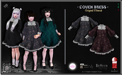 Coven Dress Pack 3 - Sweet Lies Original (Sweet Lies - LIES FACTORY GROUP) Tags: coven thecoven even gothic halloween creepy miercoles goth dress witch witches bohemian victorial gotico emo dark darky second secondlife sweetliesoriginal sweetlies fitted fitmesh girl clothes cute cutie medieval baroque avatar sims 3d virtual blender