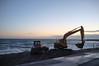 Beach maintenance (Bahi P) Tags: folkestone diggers shingle beach kent chunnel