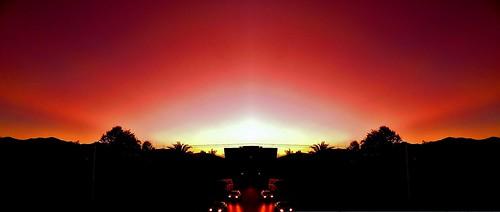 Ocaso en Abanico/Fanned Sunset