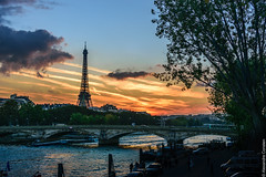 Paris getting ready for the night (Alexandre Consten) Tags: paris eiffel tower sunset city cityscape iron seine france parisian views