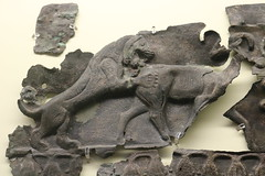8th century BC bronze sheets from Assyria, found at Olympia. Archaeological museum of Olympia in the Peloponnese, Greece (Kevin J. Norman) Tags: greece peloponnese olympia assyria bronzegreek bronze greek