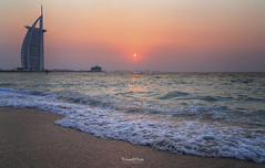 Burj Al-Arab | Jumeirah Beach | Sunset (Muhammad Habib Photography) Tags: jumeirah beach sunset burjalarab burj al arab uae dubai mydubai middleeast muhammadhabib muhammadhabibphotography habib hbb hbeebz beebz canon 6d tamron traveler travel