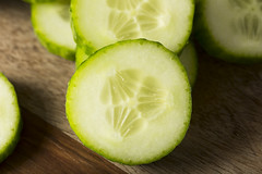 Raw Green Organic European Cucumbers (brent.hofacker) Tags: background bunch chopped cucumber cucumbers cut delicious diet dieting eating englishcucumber europeancucumber food fresh freshness green group harvest health healthcare healthy ingredient juicy lifestyle market natural nature nutrient nutrition nutritious organic part piece plant raw refreshment ripe slice sliced summer taste vegetable vegetarian vitamin white