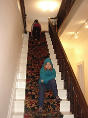 Bellamy Ghost-Taken when the upstairs was closed to the public. See the black figure at the top of the stairs? (Tour-Old-Wilmington) Tags: ghost walk tour haunted wilmington nc