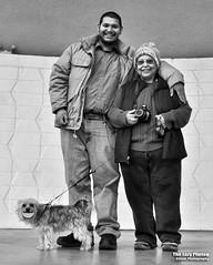 Dec 4 2016 - ALL SMILES! Pepper, Alberto and Cuca at Cody bandshell (lazy_photog) Tags: lazy photog elliott photography cody wyoming alberto cuca ruth pepper yorkie bandshell portrait park fun 120416codywithalberto
