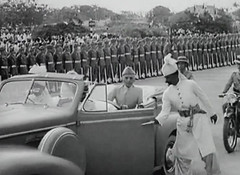 Jinnah arrives at the Constitutent Assembly (Doc Kazi) Tags: pakistan india independence negotiations ceremonies jinnah gandhi nehru mountbatten viceroy wavell stafford cripps edwina fatima muhammad ali