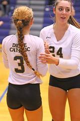 IMG_8061 (SJH Foto) Tags: girls volleyball high school york delone catholic team teen teenager substitution sub rotation
