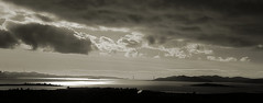 Bay under clouds (TJ Gehling) Tags: sanfranciscobay goldengate goldengatebridge brooksisland elcerrito bw blackandwhite monochrome clouds storm moeserhillside