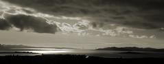 Bay under clouds (TJ Gehling) Tags: sanfranciscobay goldengate goldengatebridge brooksisland elcerrito bw blackandwhite monochrome clouds storm moeserhillside