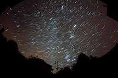 Startrails011116fullsky (baskill) Tags: orion star trails astronomy starry skies red blue stars sussex