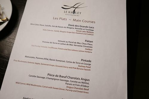 Main Courses at Le Hatley