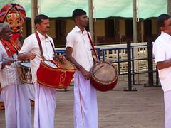 Musical instruments in temple ritual - 2 (v s raam (on/off)) Tags: mookambika kollur udupi mangalore karnataka sakthi shakthi sakti shakti sankara sankaracharya shankaraycharya adi shankara sankaraycharya shankaracharya energy primodial ratha chariot rathotsava car templecar bali bhutha bhootha sreebhoothabali sreebhuthabali bhoothabali bhuthabali butha bootha music instrument drum