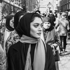 Stylish Dressers (David Fitz) Tags: muslim pretty lady beautiful uk street london brick lane western fashion clothes headscarf