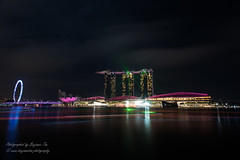Light Show at MBS (cxianwei) Tags: landscape night nightscape nightscenery marinabaysands singaporeflyer singapore lightshow lighttrails