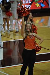 DANCIN' FOR THE HOKIES (SneakinDeacon) Tags: acc vt vatech hokies cassellcoliseum cheerleaders bigsouth basketball hightechs panthers highpoint