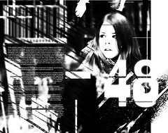 Poster with girl (igorRand) Tags: dar dark darknes design designer abstract poster girl glitch graphic glass line lines black blur bw break art artist alon alone face barcode society nuber typography text type light typographic