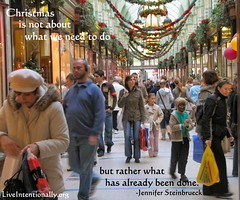 quote-liveintentionally-Christmas-is-not-about-what (pdstein007) Tags: quote inspiration inspirationalquote carpediem liveintentionally