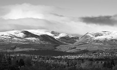 First Snow: Choinneachain, Glen Turret, Crieff (ShinyPhotoScotland) Tags: darktable affection art auchterarder awe blackandwhite brightsunlight calm calmstill camera choinneachain composite contrasts digikam distance elegance emotion enfuse equipment hdr hugin landscape lens light lightanddark lines manipulated monochrome mountains nature naturehappens nearfar olympus75300mm olympuspenf outlines perthshire photography places rawconversion rawtherapee scotland shapeandform shapely simple skyearth snow sunlight toned tranquil vista weather winter zen