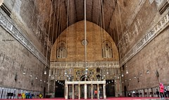 The Sultan Hassan Mosque in Old Cairo (Nadia Rifaat) Tags: sultan hassan mosque cairo egypt iwan qibla islamic architecture muslim culture nikon d5300 18140mm