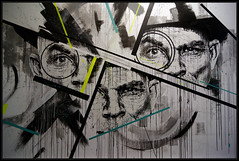 Samina Joao (Gramgroum) Tags: street art graffiti lisbonne samina ojo lx factory couloir tour coworking joao gau