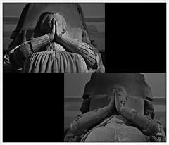 5 - Bayeux, Muse d'Art et d'Histoire Baron Grard - MAHB, Pierre Lafaye - Gisants du seigneur de Ryes et de son pouse - 17me sicle (melina1965) Tags: normandie calvados bayeux octobre october 2016 nikon d80 mosaque mosaques mosaic mosaics collages collage noiretblanc blackandwhite bw sculpture sculptures main mains hand hands geste gestes gesture gestures grave graves tombe tombes