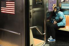 New York (ale neri) Tags: street aleneri metro subway usa flag people commuter nyc ny newyork streetphotography alessandroneri