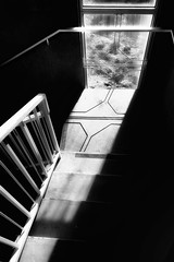 Arcosanti Stairwell (dbpeterson723) Tags: bw staircase geometry shadows architecuture arcosanti