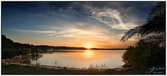 Birds going Home (juliewilliams11) Tags: outdoor photoborder sky cloud sunset serene boat summer rocks shore water birds newsouthwales australia contrast blue warm