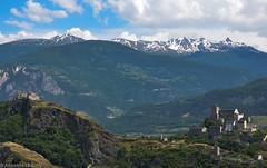 Sion, chteau de Tourbillon et basilique de Valre (CH) (TICHAT10) Tags: sion suisse architecture chteaudetourbillon chteaux valais basiliquedevalre nwn