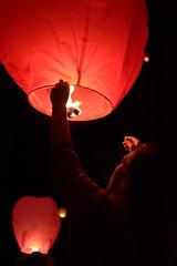 Raising his light (Cocolatine64) Tags: light lights lantern star stars awe emotions humans creative inspiration remember life live livefree folk visuals girl beautiful quiet wild wilderness soul souls