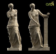 Venus de Milo reconstruction rendered in KeyShot by Anders Raden (mike catalonian) Tags: hellenisticperiod iicenturybc female sculpture ancientgreece venusdemilo