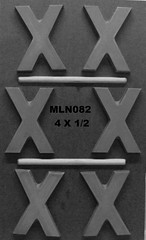 MLN082 (Chocolate Concepts) Tags: chocolate letters x number numbers letter mold