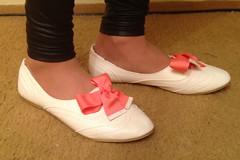IMG_5176-1 (JessicaReM) Tags: ballet black shiny cd peach ivory crossdressing flats oxford crossdresser leggings balletflats crossdressed fauxleather