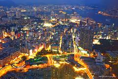 harbour night (evenliu photography) Tags: city longexposure travel hk skyline night town asia cityscape nightscape nightshot harbour citylife hong kong kowloon kongkong