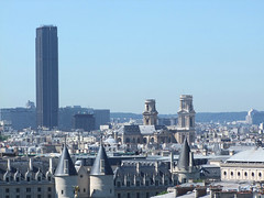 Tour Montparnasse and St-Sulpice (Simon_K) Tags: urban paris france high centre center lookingdown pompidou centrepompidou parisian birdseye beaubourg vantage francais pompidoucentre parisien pariswander pariswanderblogspotcouk