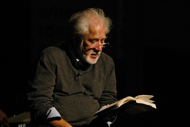 Michael Ondaatje reading on stage in 2007