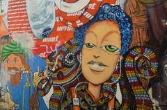 Graff (JSEBOUVI : 2 millions views !) Tags: blue red woman streetart color art portugal faro rouge vacances holidays frias agosto graff algarve couleur artiste 10aot2014 jsebouvi