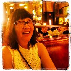 Joanne at Balthazar Ladies Who Lunch, NYC (Lynn Friedman) Tags: city nyc usa newyork square french cafe soho squareformat restuarant balthazar springstreet lordkelvin lynnfriedman iphoneography instagramapp uploaded:by=instagram foursquare:venue=3fd66200f964a52070e91ee3 lynnrfriedman