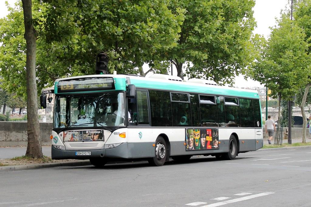 RATP Paris Bus 9359 - 83 Porte d'Ivry to Friedland Haussmann 120813