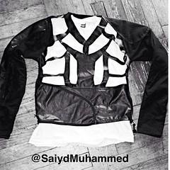 This ain't #HappyDays so why is everyone dressing like #thefonz & #richiecunningham ? #varsityjackets are out.  Welcome to the #future of #hybrid #fashion. #Jacket #blackandwhite #outerwear #mensclothing #mensfashion #clothing #trend #mansworld #leather # (Saiyd Muhammed The Clothing Designer) Tags: usa art philadelphia fashion square design bahrain clothing singapore dubai artist designer pennsylvania palestine jordan jakarta abudhabi arab squareformat malaysia saudi kuwait arabian oman saudiarabia qatar bedouin fashiondesign muhammed fashiondesigner fashionhouse starvingartist cutandsew iphoneography instagramapp uploaded:by=instagram saiydmuhammed saiyd americanbedouin