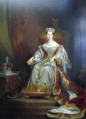 Sir George Hayter, Queen Victoria seated on the Throne in the House of Lords (1838) (Snapshooter46) Tags: london painting artist queenvictoria georgehayter guildhallartgallery portraitoil