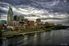 Nashville Skyline HDR (Stacey A Sanborn) Tags: camera city storm art water skyline clouds photoshop nashville tennessee nik dslr hdr edit femalephotographer sonyalpha hdrterrorist bestcapturesaoi sonya33 bestofblinkwinners