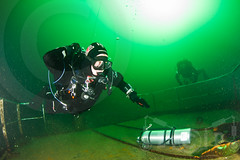 Shut-down Drills (zadok priest) Tags: water canon lens photography eos underwater centre dive scuba diving fresh quay tokina iland 7d bsac diver z mm padi quarry rebreather 1017 240 vobster strobes inon hugyfot iantd