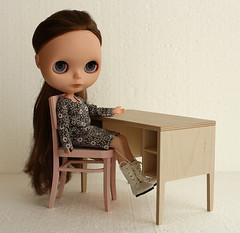 new chair + desk